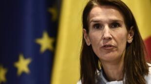 La ministre belge du Budget, la libérale francophone Sophie Wilmes, 44 ans, a été choisie samedi comme Première ministre par intérim. Ici, à Bruxelles, le 1er février 2019.
