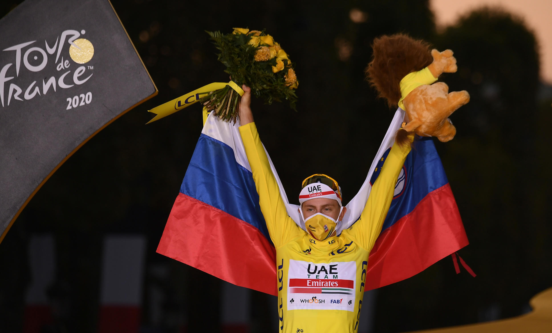 Tadej Pogacar won the 2020 Tour de France.