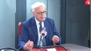 Jean-Louis Touraine, député de la République En Marche (LaREM) du Rhone, dans les studios de RFI, le 28/07/2020.