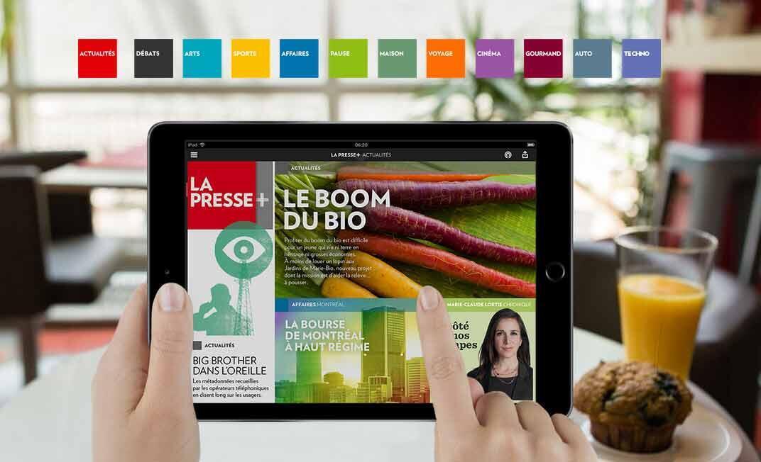 «La Presse», un journal de 130 ans, cessera dès le 1er janvier 2016 d'imprimer son contenu sur papier 5 jours par semaine, pour offrir seulement sa version numérique sur tablette à ses abonnés.