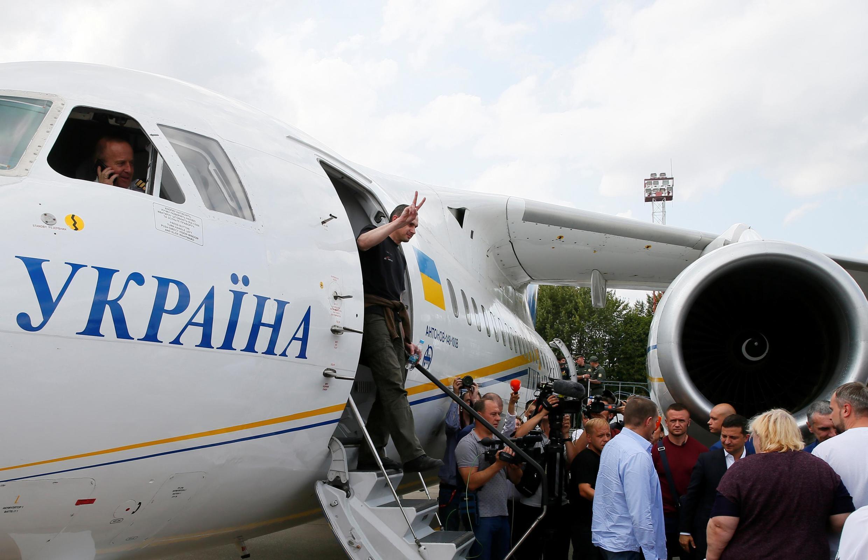 07/09/19Cineasta Oleg Sentsov fez parte da troca de prisoneiros entre Rússia e Ucrânia neste sábado.