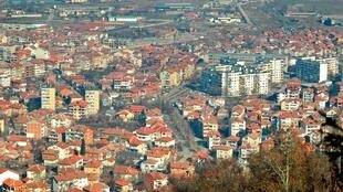 Vue de la ville de Petritch, à la frontière Bulgare au sud du pays.
