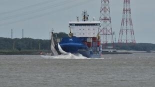 A large, newly restored 1883 sailboat sank after a collision with a container ship on Saturday on the Elbe in Germany.