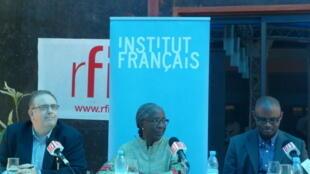 Richard Lalou, Fatou Sow et Cheikh Tidiane Ndiaye.