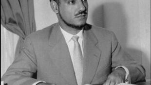 Portrait daté de juin 1961 du Président de la république islamique de Mauritanie (indépendance le 28 novembre 1960), Moktar Ould Daddah.