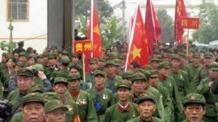 Image d'archive - 存檔圖片: 近年來,中國退伍軍人維權事件頻頻發生。