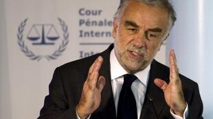 The ICC's chief prosecutor Luis Moreno-Ocampo