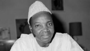 Le professeur et journaliste Joseph Ki-Zerbo (né à Toma le 21 juin 1922 au Burkina Faso). Photo datée du 29 mai 1978.