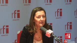 Karine Berger, députée des Hautes-Alpes, secrétaire nationale à l'économie du PS.