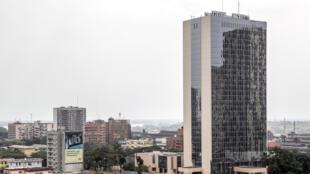 Le bâtiment de la BAD, la Banque africaine de Développement, à Abidjan.