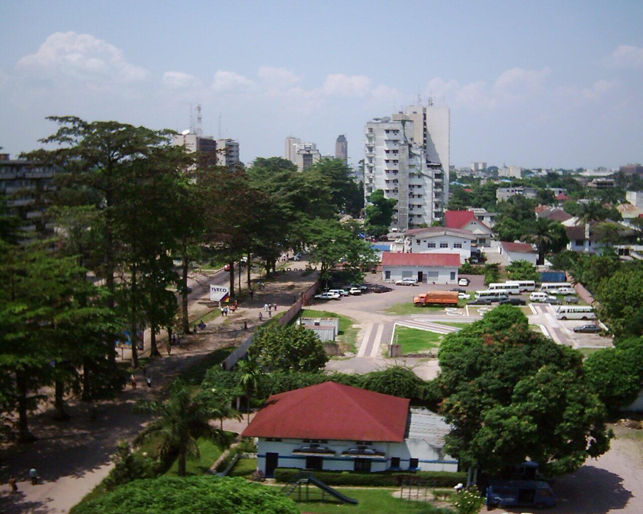 Vue de la Gombe, à Kinshasa.