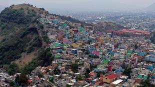Vista aérea del municipio de Iztapalapa en Ciudad de México, el 26 de mayo de 2021 City
