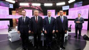 Ricardo Anaya (PAN), Andrés Manuel López Obrador (MORENA), José Antonio Meade (PRI) y Jaime Rodriguez Calderón.