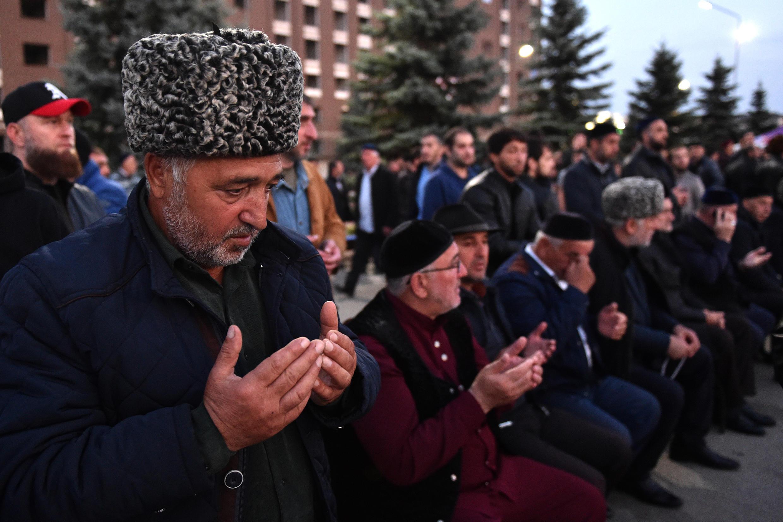 Митинг в Магасе против договора о границе с Чечней, 9 октября 2018 г.