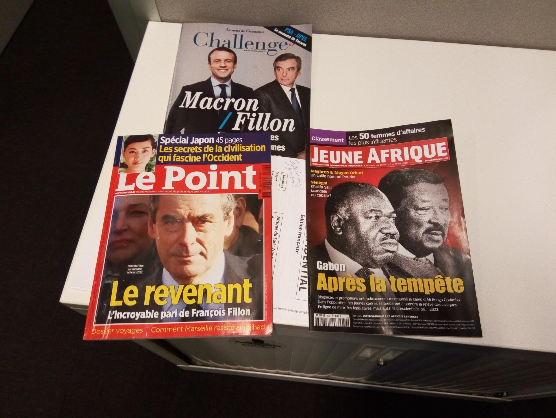 Capas de magazines news franceses de 11 de março de 2017