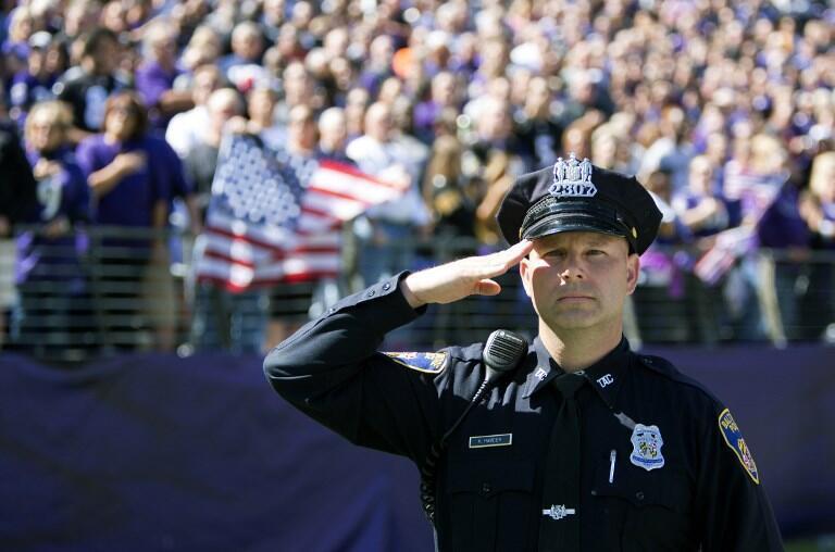 Un policier de Baltimore dans l'État du Maryland (photo d'illustration).