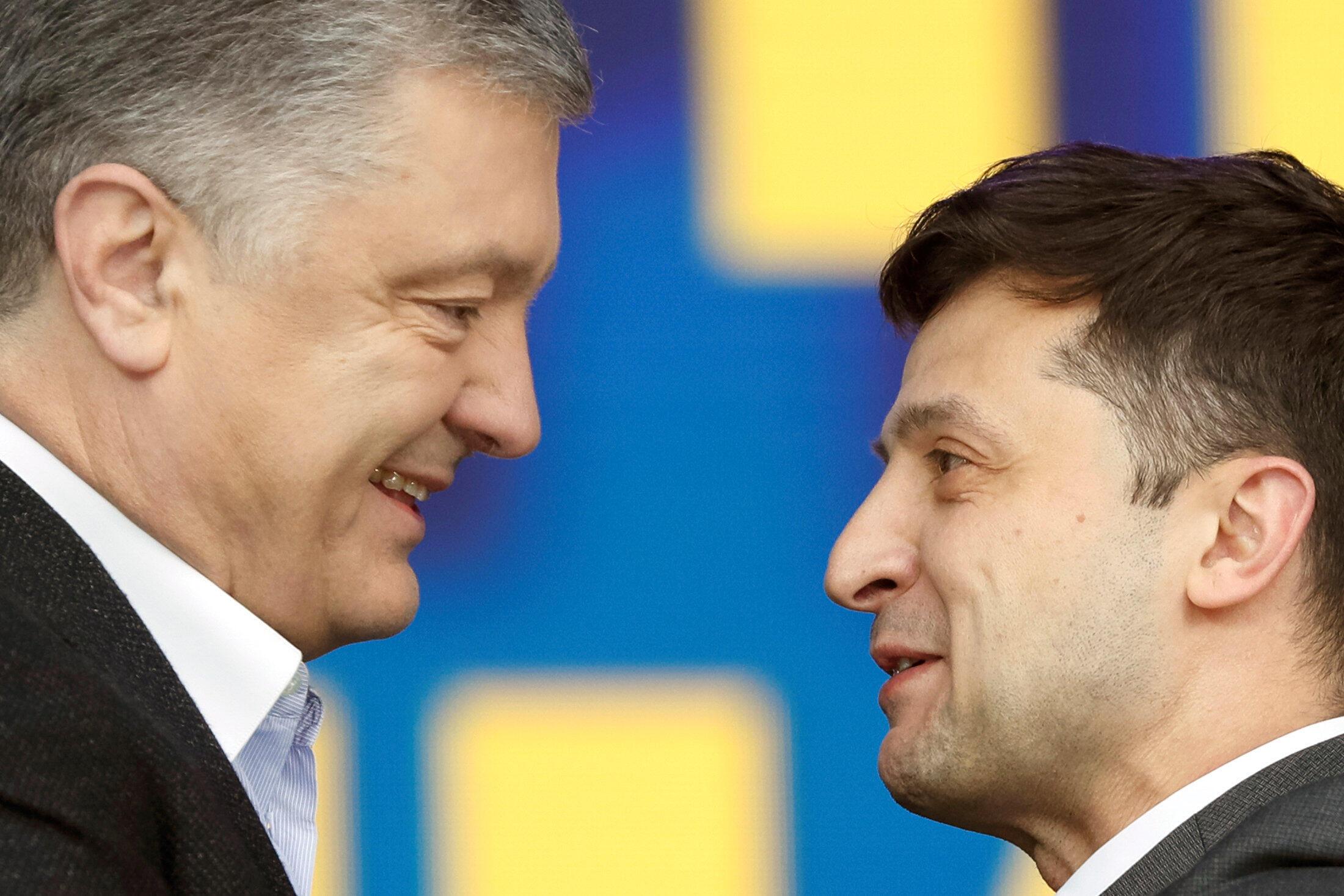 Shugaba Petro Poroshenko mai barin gado tare Volodymyr Zelenskiy shugaban Ukraine mai jiran gado
