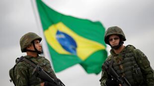 Thủy quân Brazil được tăng cường để đảm bảo an ninh cho Thế Vận Hội tại Rio de Janeiro. Ảnh chụp ngày 21/07/2016.