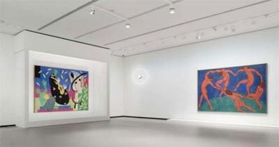 Une vue de l'exposition, Les clefs d'une passion, à la Fondation Louis Vuitton