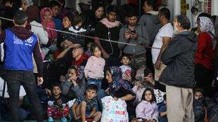 Des réfugiés et des migrants arrivent sur l'île de Samos, au port de Elefsina près d'Athènes en Grèce, le 22 octobre 2019. (Photo d'illustration)