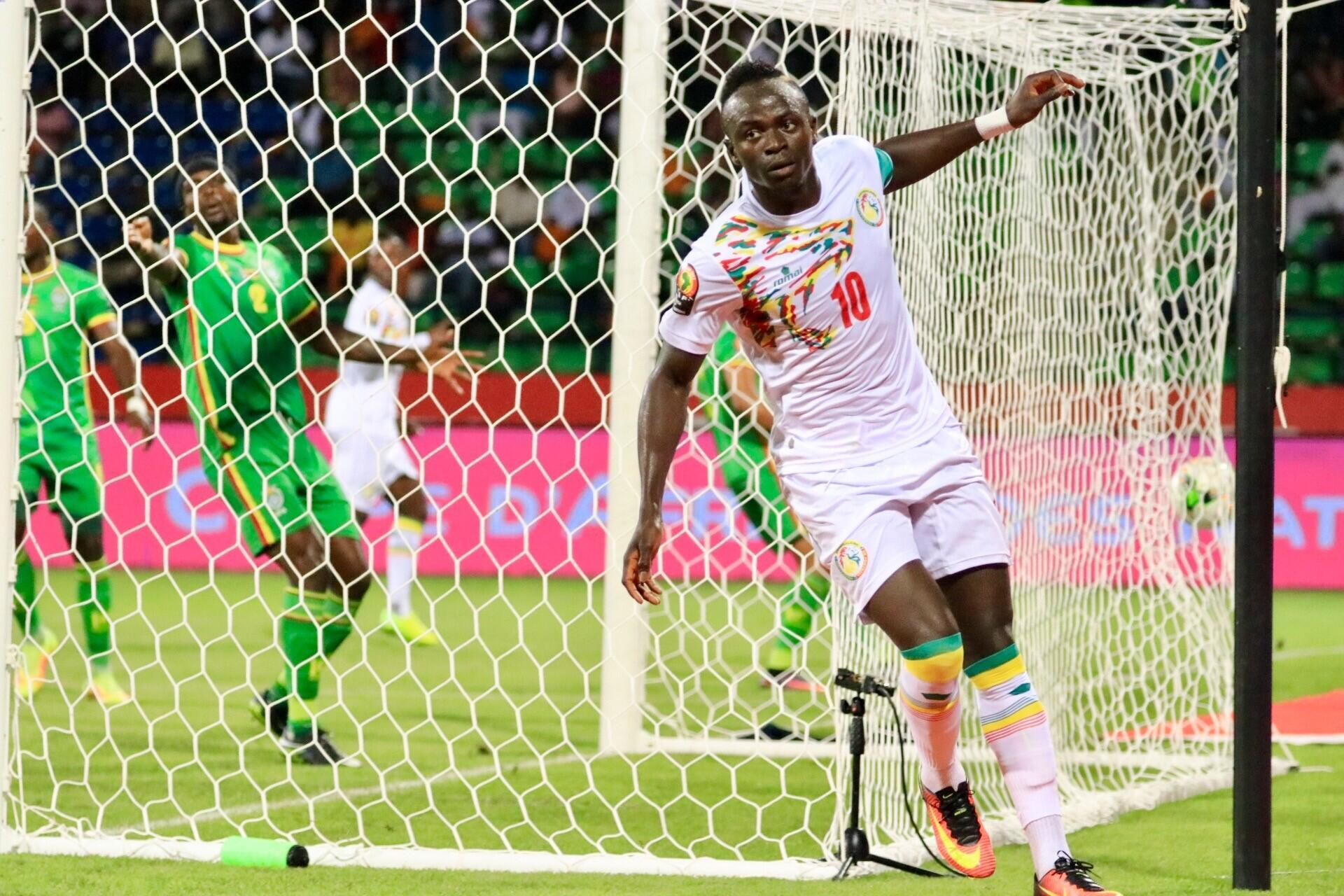 Sadio Mané scored Senegal's first goal against Zimbabwe.