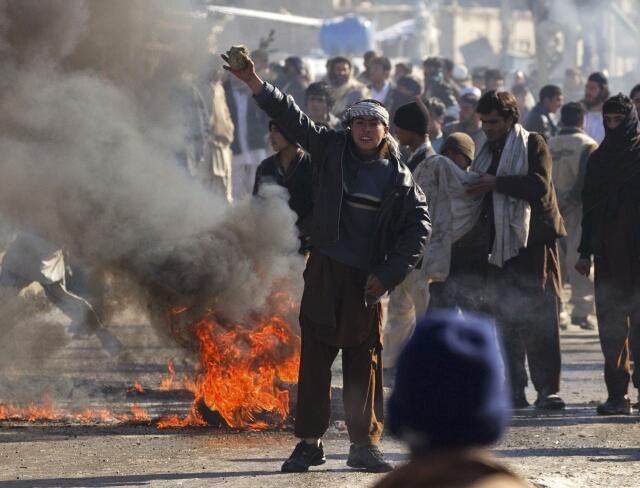 Biểu tình chống Mỹ tại Afghanistan ngày 22/02/2012