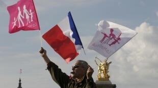 En la explanada de los Inválidos, este 26 de mayo en París.