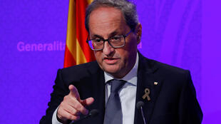 Quim Torra condemned the street protests that have erupted since the jail sentences given to Catalan separatist leaders.