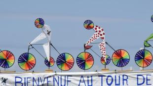 Le village du Tour au Touquet.