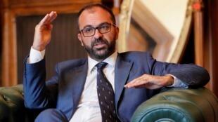Le ministre démissionnaire de l'Éducation italien Lorenzo Fioramonti en novembre 2019 à Rome en Italie.