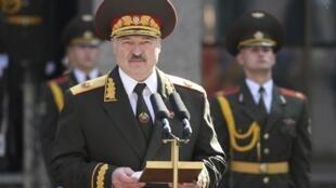Le président biélorusse Alexandre Loukachenko à Minsk le 23 septembre 2020.