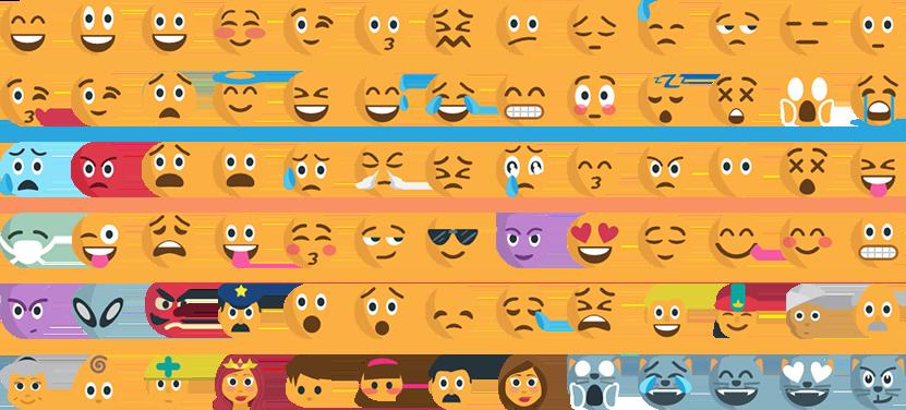 Les émoticônes précisent parfois un état d'esprit ou une émotion quand la brièveté d'un message pourrait le rendre ambigu.