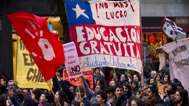 Manifestación de estudiantes chilenos