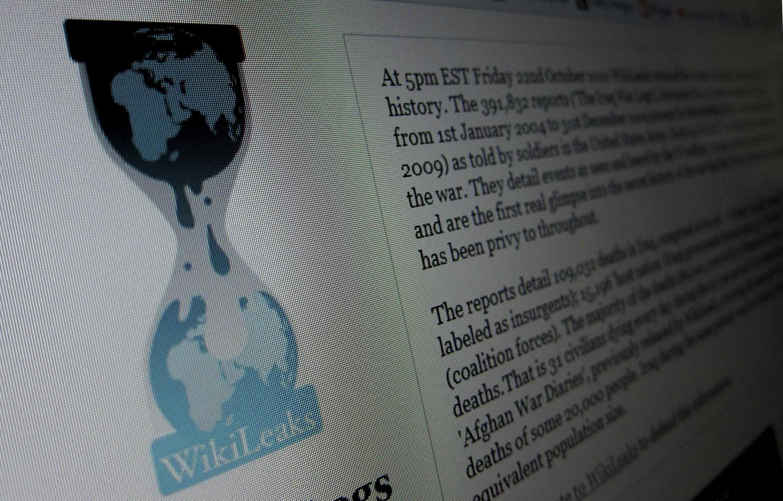 Trang chủ của WikiLeaks.
