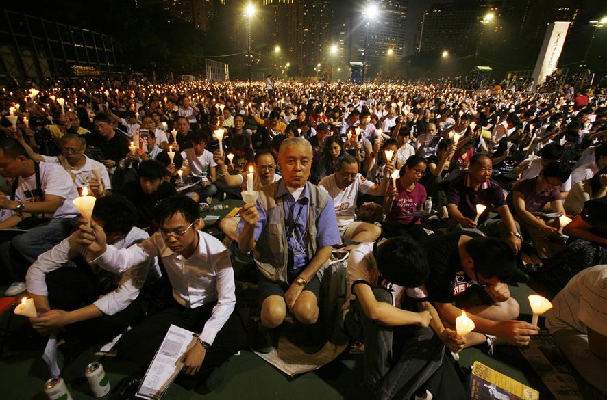 香港維園的六四燭光紀念