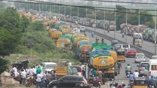 La vieille route de Madras à Chennai, dans l'Inde du Sud (image d'illustration).