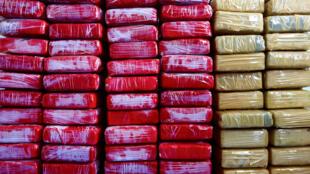 Cocaïne saisie par les douanes françaises en avril 2015, au large de la Martinique.