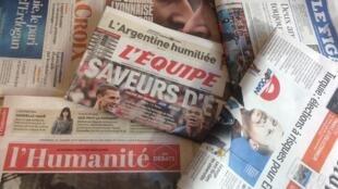 Primeiras páginas dos jornais franceses de 22 de junho de 2018