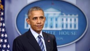 El presidente de Estados Unidos, Barack Obama, durante su última conferencia de prensa en la Casa Blanca, 16 diciembre 2016