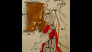 Dessin réalisé à partir d'«Ecouter Paris dans les coulisses de l'Opéra-Comique».