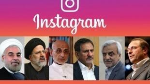 """ستادهای انتخاباتی ۶ نامزد انتخابات ریاست جمهوری،، از شبکههای اجتماعی مانند """"اینستاگرام""""، برای تبلیغ نامزد مورد حمایت خود استفاده میکنند"""
