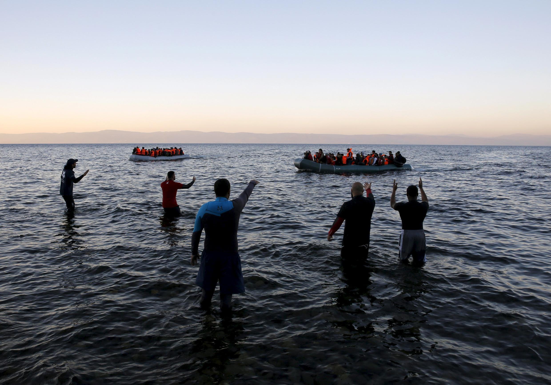 近幾日,穿越愛琴海進入希臘Lesbos島的難民驟然減少。