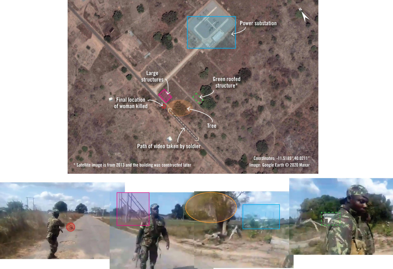O Crisis Evidence Lab, laboratório de verificação urgente de provas da Amnistia Internacional, analisou vários vídeos e fotografias, para localizar onde foram perpetrados os ataques em Cabo Delgado, perpetrados por homens com fardas das Forças de Defesa e Segurança.