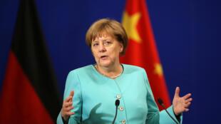 Thủ tướng Đức Angela Merkel phát biểu tại Diễn đàn Hợp tác Kinh tế và Công nghệ, Bắc Kinh, ngày 13/06/2016.