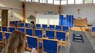 Eglise évangélique - centre de vaccination - Londres - Marie Billon