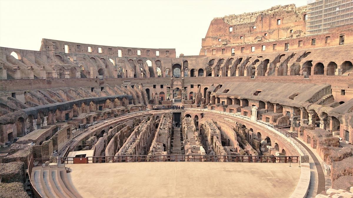 Restored underground of the Colosseum_Rome_Italy_June 2021_Sabina Castelfranco