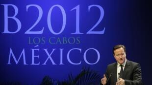 Premiê britânico, David Cameron, discursa no plenário do G20.