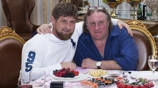 Жерар Депардье с Рамзаном Кадыровым в Грозном 25/02/2013