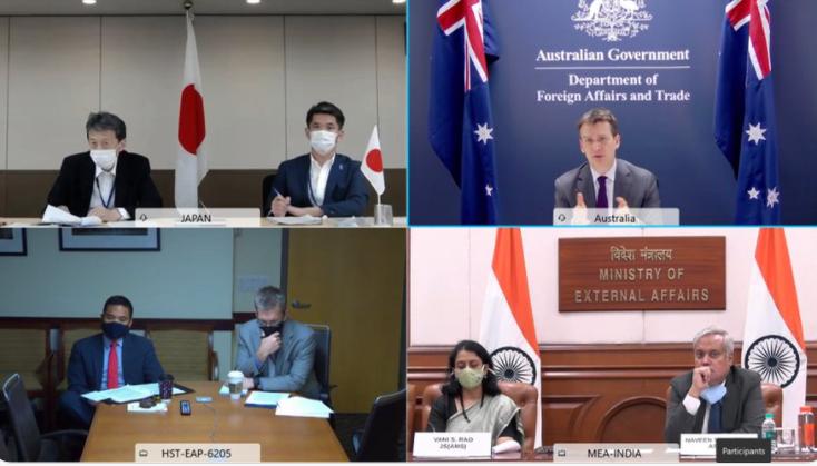 美日印澳四國高級官員本周會談資料圖片