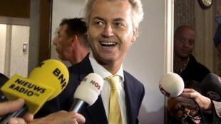 Geert Wilders au tribunal d'Amsterdam ce jeudi 23 juin 2011.